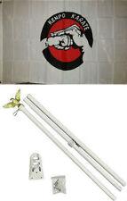 3x5 Advertising Kenpo Karate Martial Arts Flag White Pole Kit Set 3'x5'