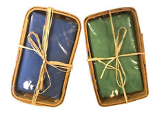 "Guest Paper Napkin Holder Wicker Basket Bathroom Beach House New 9.5x5.5x2"""