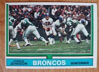 CHARLIE JOHNSON 1974 Topps Football Card #116 Denver Broncos