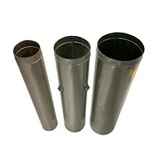 "Wood Fire Flue Pipe Triple Kit 150mm (6"") 200mm (8"") and 250mm (10"") Dia. ABFS15"