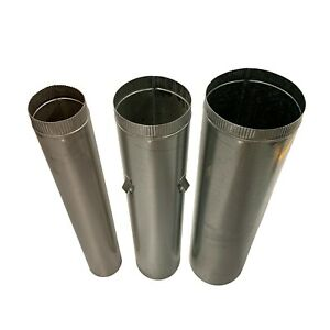 """Wood Fire Flue Pipe Triple Kit 150mm (6"""") 200mm (8"""") and 250mm (10"""") Dia. ABFS15"""