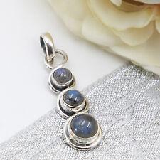 Labradorit Anhänger Silber 925 pendant  blaugrün Sterlingsilber 3s   ts