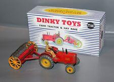DINKY TOYS  27AK (310) Farm Tractor & Hay Rake Massey + Repro Box