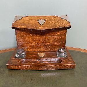Quality Victorian Oak Antique Stationary Box