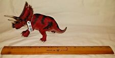Schleich Triceratops Red Prehistoric Dinosaur Model Toy Figure w/ tags Retired