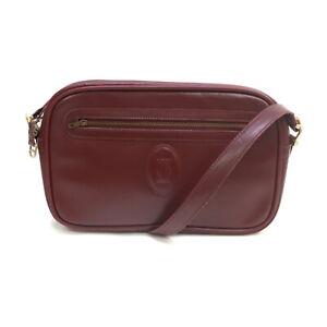 Cartier Shoulder Bag  Bordeaux Leather 2303751