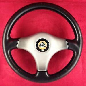 Genuine Lotus Elise S1 OEM black leather 3 spoke Nardi steering wheel and hub 2B