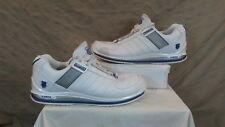 K Swiss Para Hombres Zapatos Tenis De Cuero Blanco/Deportes. tamaño 12 condición excelente usado.