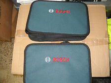 TWO Bosch 13 x 9 Soft Sided Contractors Heavy Duty Tool Bag Inside Pocket NEW PS