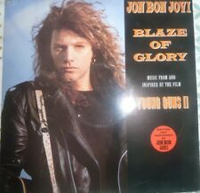 "JON BON JOVI Blaze Of Glory 12"" Vinyl Record+ You Really Got Me Now/Blood Money"