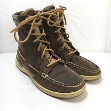 Sperry Top Sider Womens 6.5 Brown Leather Hikerfish Lace Up Ankle Boots 9173691