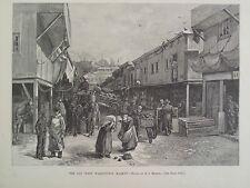 Old West Washington Market New York Harper's Weekly 1888