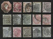 GREAT BRITAIN Used Classic Lot of 15 Stamps Unchecked High CV