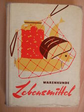 Krell,Adolf.Warenkunde Lebensmittel.Fachbuch DDR 1963.85 Abbildungen