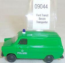 FORD TRANSIT Policía TRANSPORTER Gasolina IMU EUROMODELL 09044 H0 1:87 emb.orig