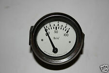 GENUINE SMITHS INDUSTRIES LTD PERIOD VINTAGE 0 to 100 OIL PRESSURE GAUGE