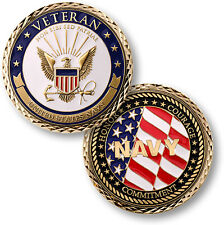 NEW Veteran - U.S. Navy Challenge Coin. 60608.