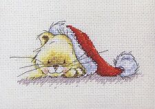 "Solo ""bonne Noël"" Cross Stitch Kit-Ancre (CAT) - 14 comte"