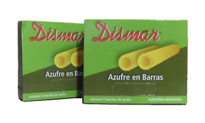 SULFUR STONES (AZUFRE BARRAS), 5 per pack x 2 packs (ARGENTINA)