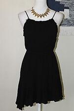 BCBGENERATION Womens Size XS Black Ruffled Asymmetrical Hem Party Dress