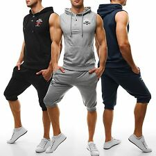 Ärmellose Herren-Fitnessmode mit Taschen