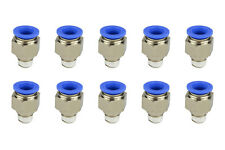 10x TEMCo Pneumatic Air Quick Push to Connect Fitting 1/4
