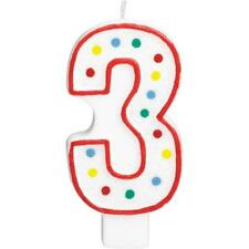 Extra Large Amscan Birthday Party Perfect Candle #3  Number 5 inches Wax Zero 3