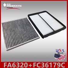 FA6320 FC36179C(CARBON) ENGINE & CABIN AIR FILTER ~ 2013-17 SANTA FE XL V6 3.3L