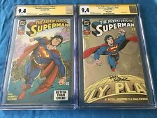 Adventures of Superman #505 Reg and Coll - DC - CGC SS 9.4 NM - Signed by Kesel