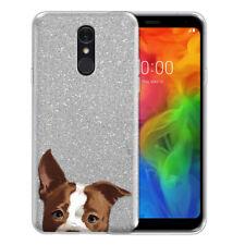 "For Lg Q7 / Q7+ / Q7 Alpha Q610 5.5"" Animal Sparkling Silver Tpu Case Cover"