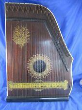 Vintage Mandolin Harp Zither in OVP Made in Saxony 1900 Jugendstil Dekor