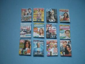 Dolls House miniatures accessories - Magazines x 12