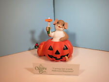 Charming Tails Carving Out A Little Halloween Happiness Mouse Figurine-Nib