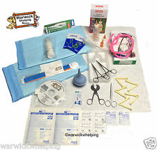 Warwick Whelping Boxes™ Select Kit Sterile Delivery Pack Aspirator Stethoscope