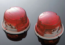 Dual Round Custom Taillight-E Marked-Chrome-Highway Hawk-Motorcycle-Bikes-68-208