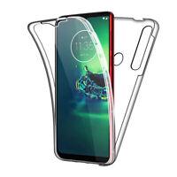 SDTEK Case for Motorola Moto G8 Plus Full Body 360 Gel Cover Front and Back