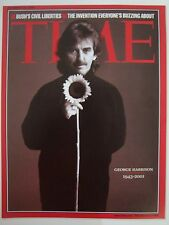 GEORGE HARRISON 1943 2001 TIME MAGAZINE COVER PAGE PHOTO FROM TIME MAGAZINE BOOK