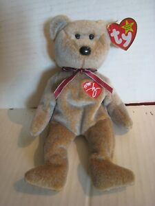 1999 Ty Beanie Baby; Signature Bear ; Brown Bear with Highlights