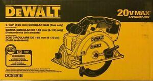 DeWALT DCS391B 20V 6-1/2-Inch Lithium-Ion Cordless Circular Saw - Bare Tool ONLY