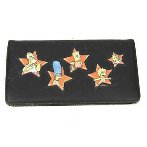 2002 Simpsons Checkbook Cover Wallet - Fox TV Show - Homer Bart Lisa Marge Maggy