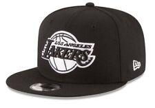 LOS ANGELES LAKERS Logo New Era Adjustable Snapback Hat - Black/White
