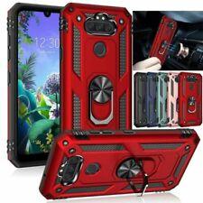 For LG Aristo 5 /Phoenix 5 /K31 Shockproof Armor Magnetic Ring Holder Case Cover