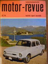 Tschechoslowakische MOTOR REVUE  6 - 1974 ** Salon Genf Eisspeedway-WM Jawa CZ