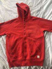 XDYE Red Full Zip Long Sleeve Sweater Men's Size Medium