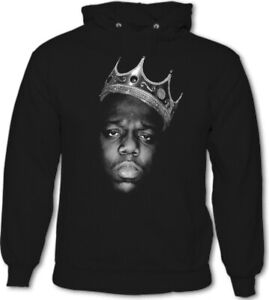Biggie Smalls Hoodie Mens The Notorious B.I.G. Death Row Tupac Records 2Pac TEE