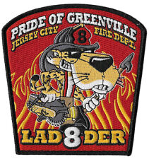Jersey City Ladder 8 Pride of Greenville Cheetos Tiger NEW Fire Patch