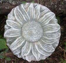 "Sunflower plastic mold concrete plaster resin casting  8"" x 1"" thick"