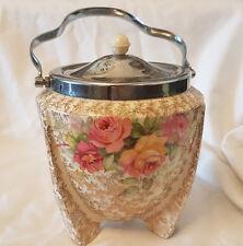 ART DECO CHINTZ BISCUIT BARREL COOKIE JAR CLARICE CLIFF  WILKINSON CELTIC ROSE