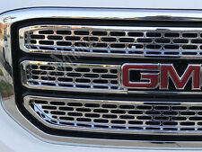 2015-2017 GMC Yukon Chrome Snap-On 4Piece Grille Grill Overlay