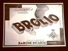 Pubblicità dei 1932 Vino Chianti Broglio Ditta Barone Ricasoli di Firenze